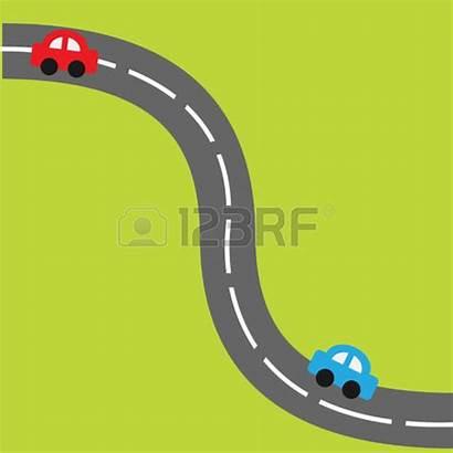 Road Horizontal Clipart Cartoon Straight Street Illustration