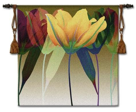 tulip modern tapestry wall hanging contemporary floral design h51 quot x w51 quot
