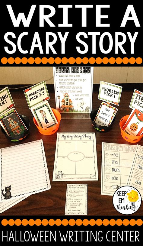 Halloween Writing Center Write A Scary Story  Super Scary Stories, Writing Centers And Writing