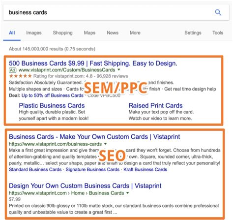 Seo Search Results - what s the difference between seo and sem does it matter