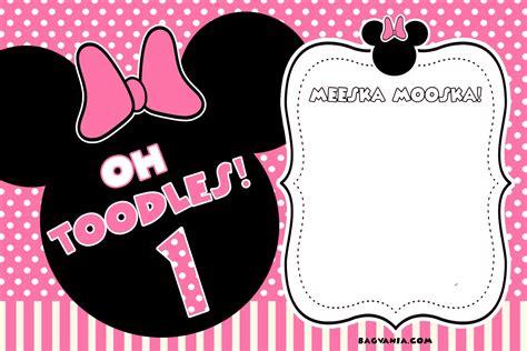 minnie mouse invitation template free printable minnie mouse birthday invitations bagvania free printable invitation template