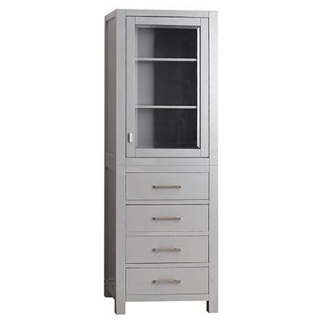 Bathroom Vanity Linen Tower by Modero Chilled Gray 24 Inch Linen Tower Avanity Cabinets