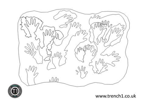 Cave Painting Colouring Sheets