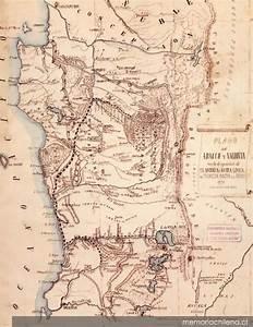 Plano De Arauco Y Valdivia Con La Designaci U00f3n De La Antigua I Nueva L U00ednea De Frontera Contra Los