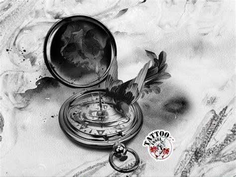 kompass vogel skull tattoos kompass vogel und ideen