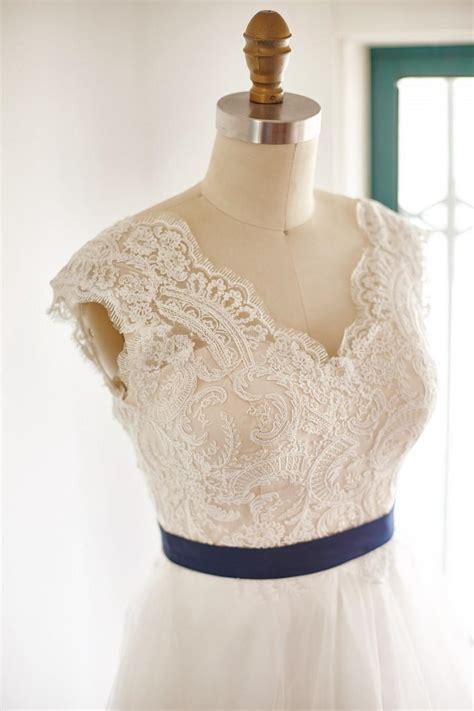 sheer illusion lace tulle beach boho  neck wedding dress
