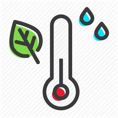 Humidity Temperature Icon Thermometer Measure Autumn Rain
