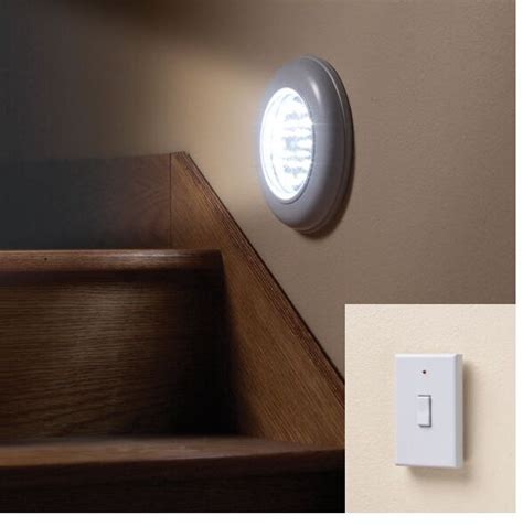 cordless electric light with remote ceiling or wall light