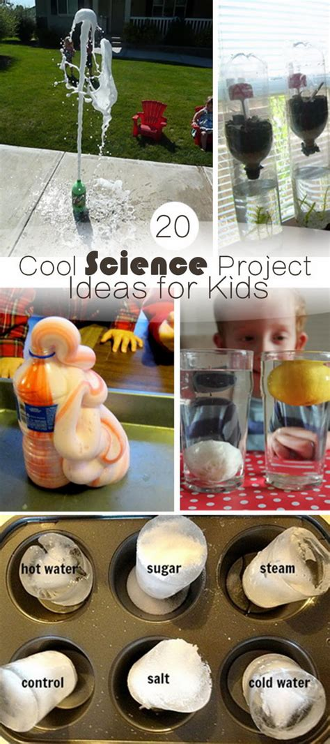 cool science project ideas  kids hative