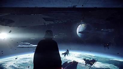 Endor Battle Wars Star Space Dragon Station