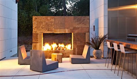24  Outdoor Fireplace Designs, Ideas   Design Trends