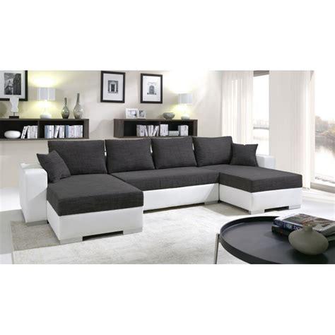 canapé convertible luxe et confort canapé d 39 angle panoramique et réversible enno en tissu et