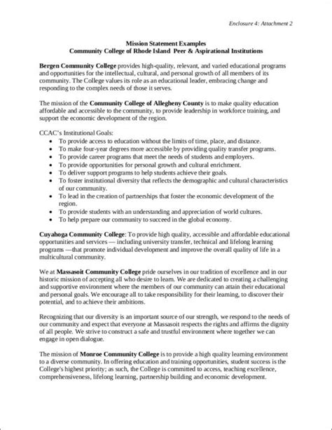 mission statement template the importance of a mission statement sle templates