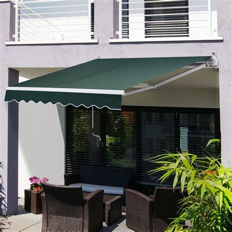 outsunny  ft    ft  retractable window door awning reviews wayfairca