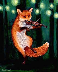 Fiddle Playing Fox