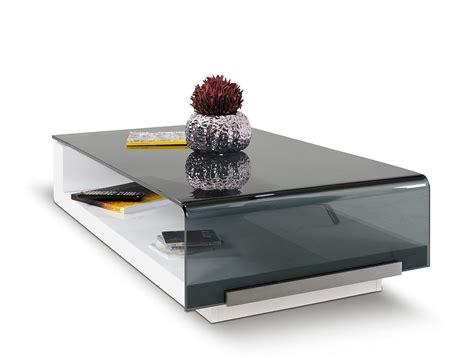 modrest tide modern glass coffee table