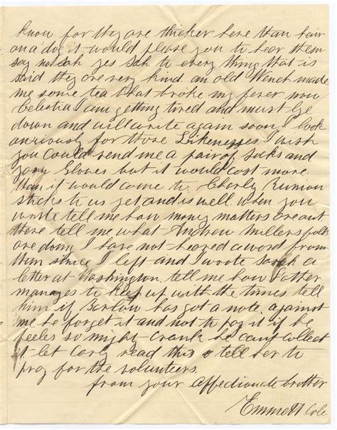 civil war letters 26 january 1862 but i would not go to the hospital for