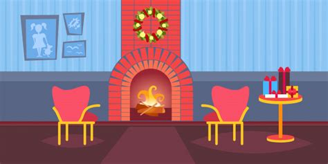 May the blessings of lord, merry christmas and new year spiritual cards. Premium Vector | Living room decorated merry christmas ...