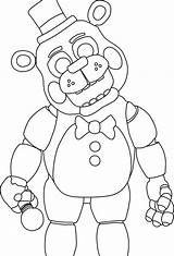 Freddy Nights Coloring Five Pages Fnaf Colouring Toy Freddys Toys Animatronics sketch template