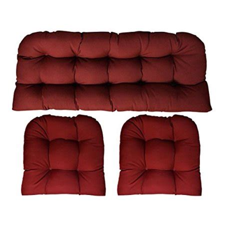 Wicker Settee Cushion Sets by 3 Wicker Cushion Set Loveseat Settee 2 Cushions