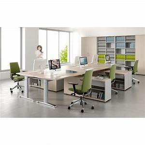 Bureau Avec Rangement : bureau avec cr dence de rangement mdd bureaux op ratif mdd ~ Teatrodelosmanantiales.com Idées de Décoration