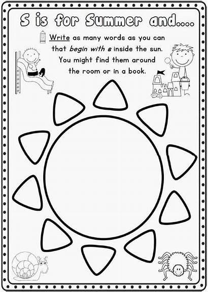 Summer Writing Worksheets Grade Kindergarten Pages 1st