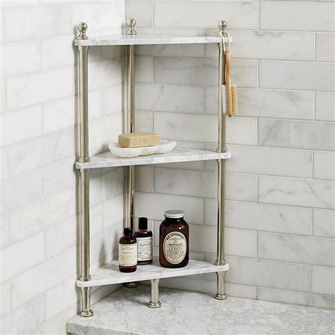 marble shower shelf marble corner shelf ballard designs