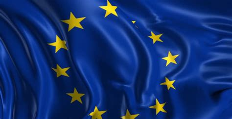 European Union Flag Stock Footage Video
