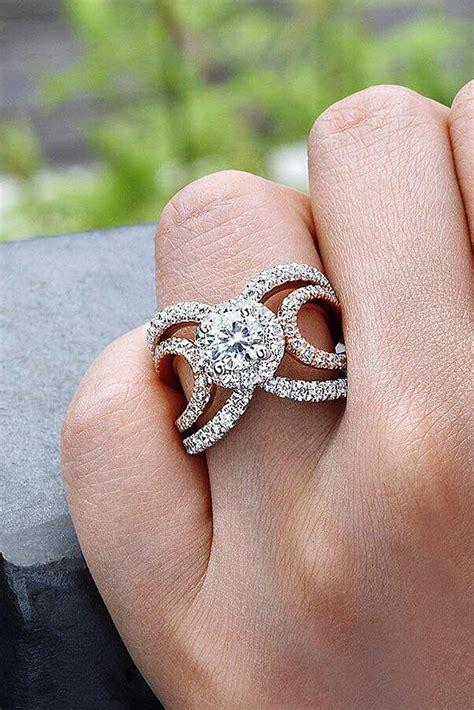 modern engagement rings   creative girl