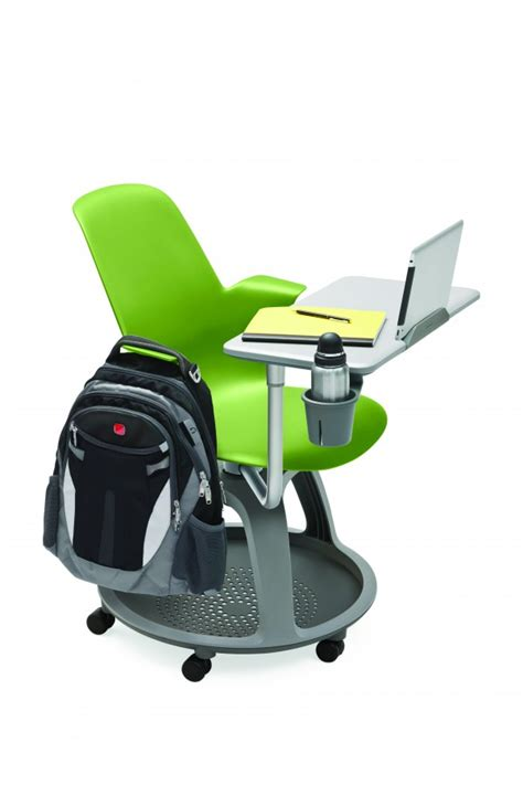 fauteuil mobile node polypropyl 232 ne avec tablette de