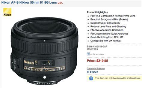 nikon af s 50mm f1 8 g lens nikon 50mm f 1 8g lens now in stock nikon rumors