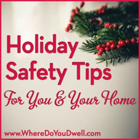 holiday safety tips     home