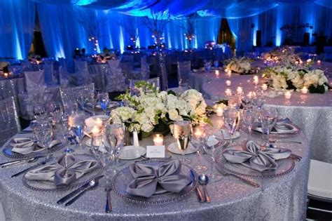 winter wonderland ice blue wedding featuring tiffany