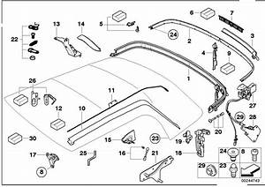2006 Mini Cooper Convertible Folding Top Mounting Parts