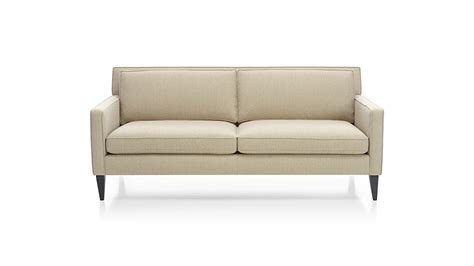 crate and barrel apartment sofa sofa apartment petrie modern tufted sofa crate and barrel