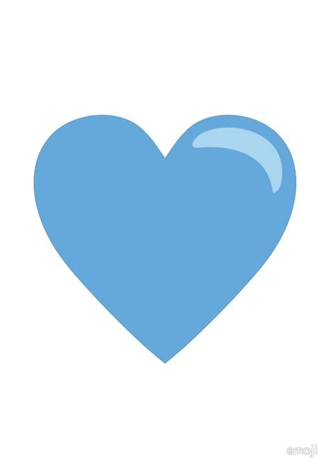 The Gallery For > Blue Heart Emoji