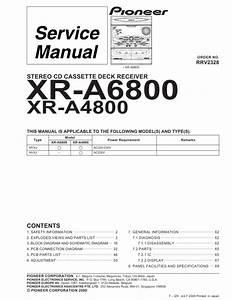Pioneer Xr-a380  Dbdxj Service Manual