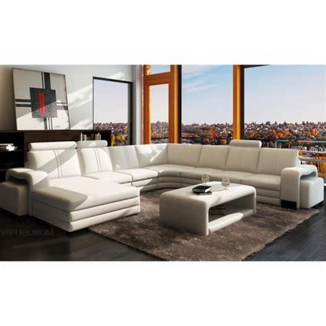 canapé italien sofa canapé d 39 angle en cuir italien 8 places diamant noir 8
