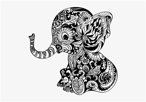 After your purchase, you can immediately download a zip file containing the following files: Download Ready To Press Transfer - Baby Elephant Mandala ...