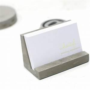 Concrete business card holder concrete stationary industrial for Concrete business card holder
