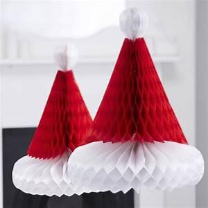 Deco Noel En Papier : decoration noel d corations papier bonnet no l ~ Melissatoandfro.com Idées de Décoration
