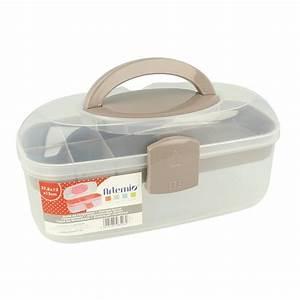 Boite Plastique De Rangement : bo te de rangement plastique avec poign e 39 artemio 39 27 ~ Dailycaller-alerts.com Idées de Décoration