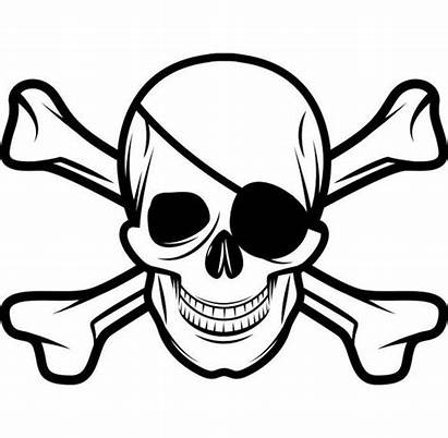Skull Pirate Eye Patch Crossbones Jolly Roger