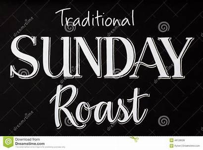 Roast Sunday Board Chalk Chalkboard Traditional Word