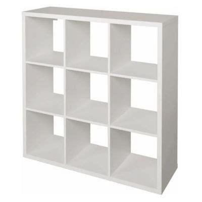 etagere bureau conforama étagère modulable 9 cases coloris blanc mixxit castorama