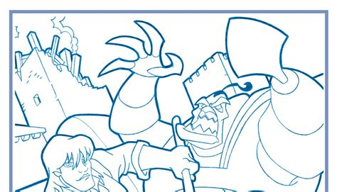 steintime quest  camelot coloring page