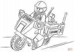 Lego City Printable Coloring Pages Home Moto Police Page Free