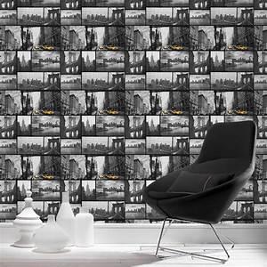 Décolleuse De Papier Peint : papier peint papier photo ny gris fonc leroy merlin ~ Dailycaller-alerts.com Idées de Décoration