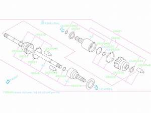 Subaru Forester Cv Axle  Rear   Shaft  Drive  Make