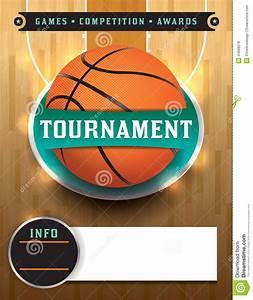 Basketball tournament template stock vector image 44668278 for Basketball tournament program template